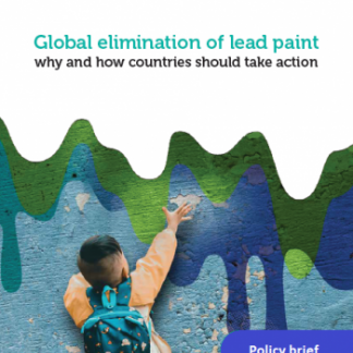 Global elimination of lead paint: why and how countries should take action - Policy brief