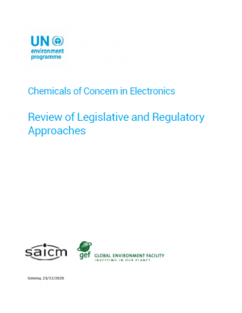 Chemicals of concern in electronics: Review of legislative and regulatory approach