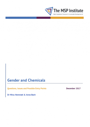 Gender and Chemicals: Questions, Issues and Possible Entry Points