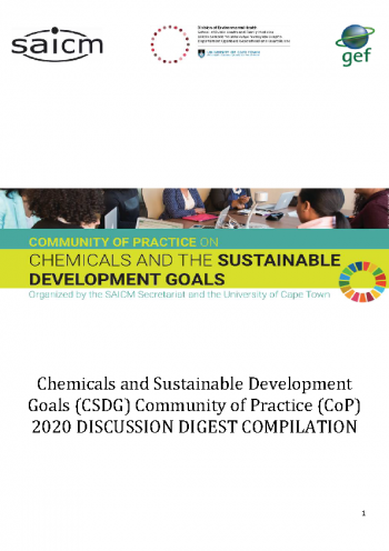 Community of Practice on Chemicals and SDGs - 2020 Digest Compliation