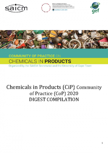 Community of Practice on Chemicals in Products - 2020 Digest Compliation