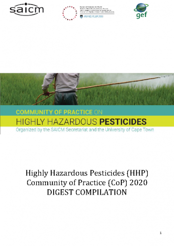 Community of Practice on Highly Hazardous Pesticides - 2020 Digest Compliation