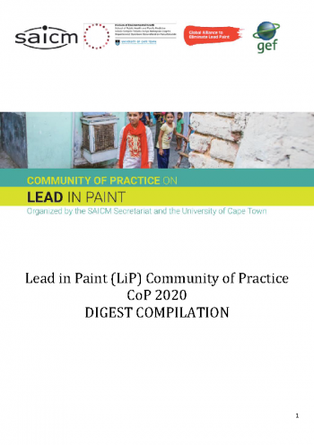 Community of Practice on Lead in Paint - 2020 Digest Compliation