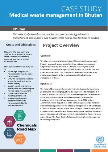 Case study: medical waste management in Bhutan