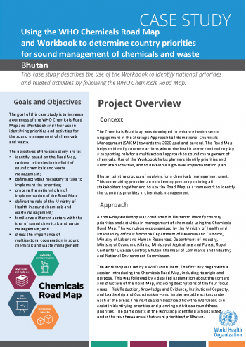 Case study: Using the WHO Chemicals Road Map and Workbook to determine country priorities for sound management of chemicals and waste
