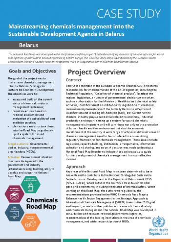 Case study: mainstreaming chemicals management into the sustainable development agenda in Belarus