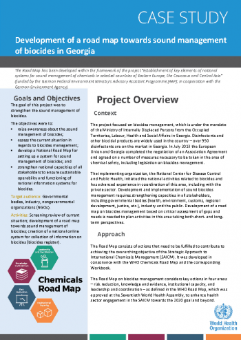 Case study: development of a road map towards sound management of biocides in Georgia