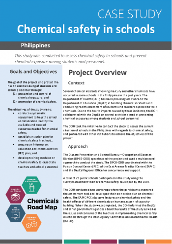 Case study: chemical safety in schools in the Philippines