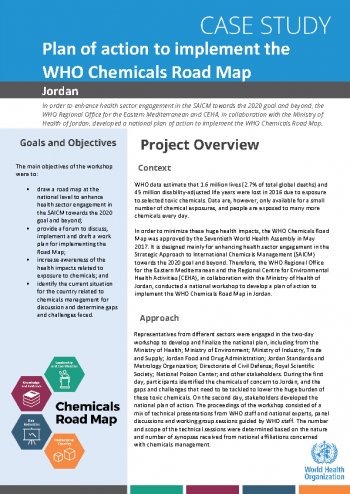 Case study: plan of action to implement the WHO chemical road map in Jordan
