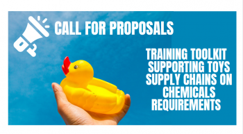 Call for proposals: Toolkit to support regulatory compliance in the toy supply chain