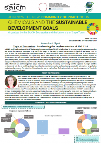 Accelerating the implementation of SDG 12.4