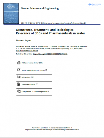 Occurrence, Treatment, and Toxicological Relevance of EDCs and Pharmaceuticals in Water