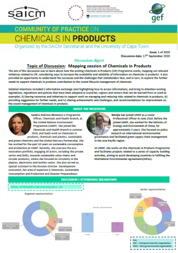 Mapping session of Chemicals in Products Globally
