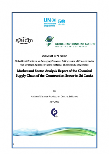 Market and Sector Analysis Report of the Chemical Supply Chain of the Construction Sector in Sri Lanka