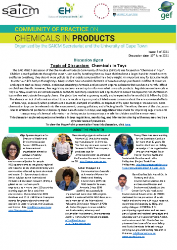 Chemicals and toys