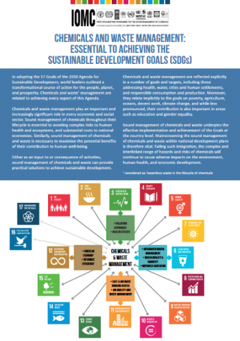 Chemicals and waste management: essential to achieving the Sustainable Development Goals (SDGs)