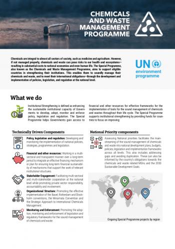 Chemicals and Waste Management Programme Factsheet
