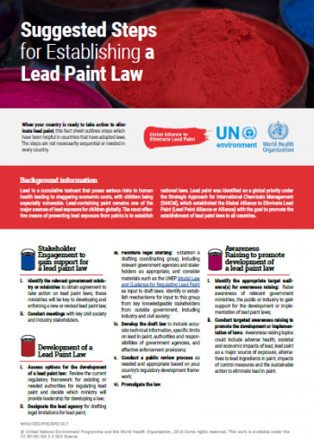 Suggested Steps for Establishing a Lead Paint Law
