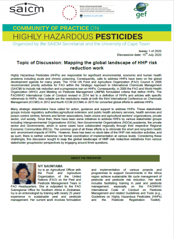Mapping the global landscape of HHP risk reduction work