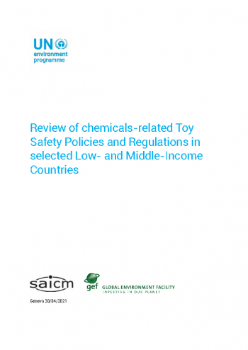 Review of chemicals related Toy Safety Policies and Regulations in selected Low and Middle Income Countries