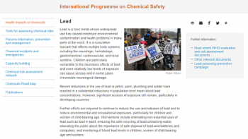 Health information about Lead